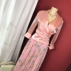Coldwater Creek 8 peach gorgeous formal top
